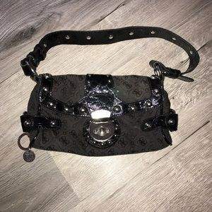Medium size Guess purse black with silver detail